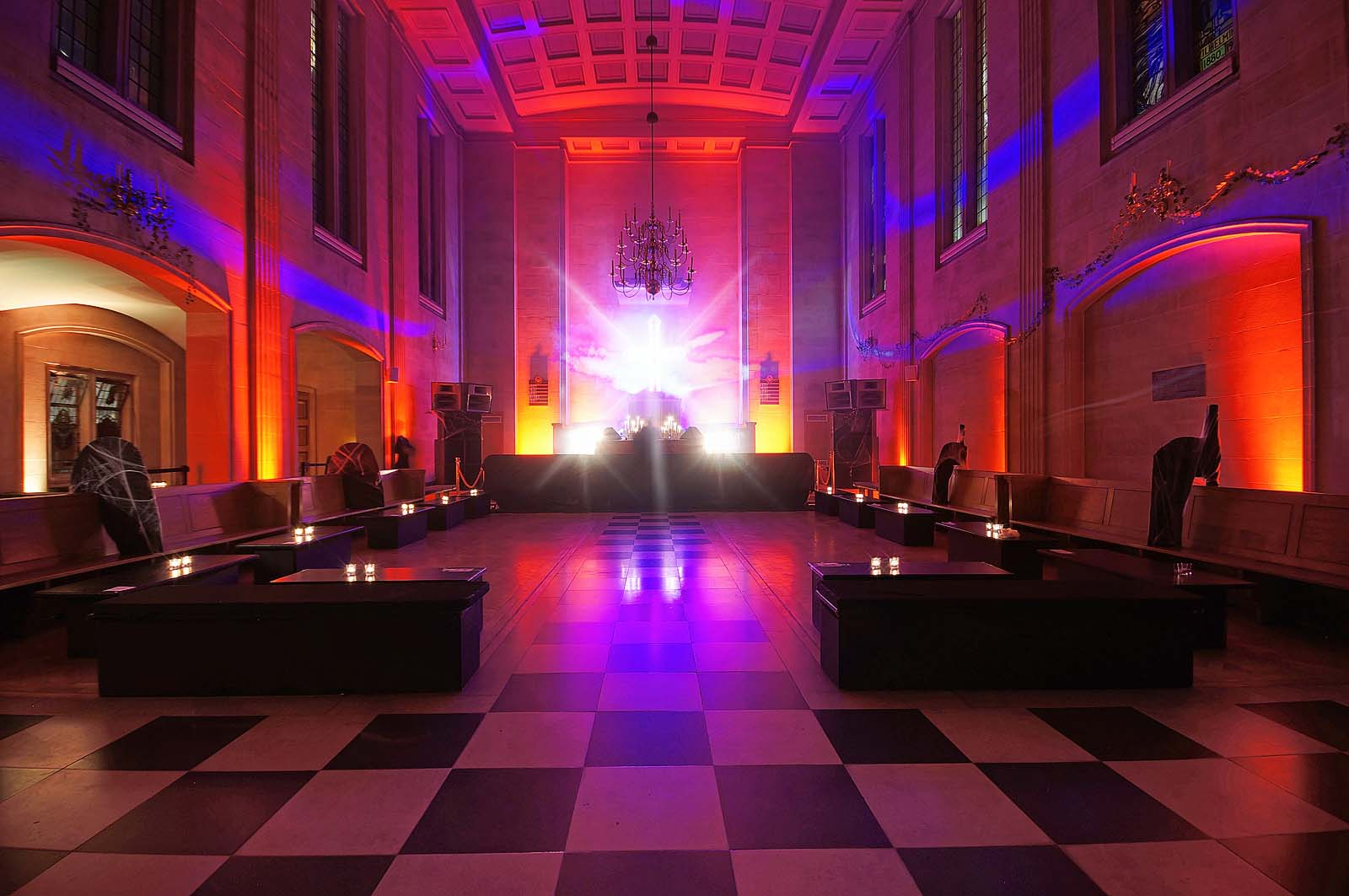 Dancefloor space at City of London event venue The Dutch Hall