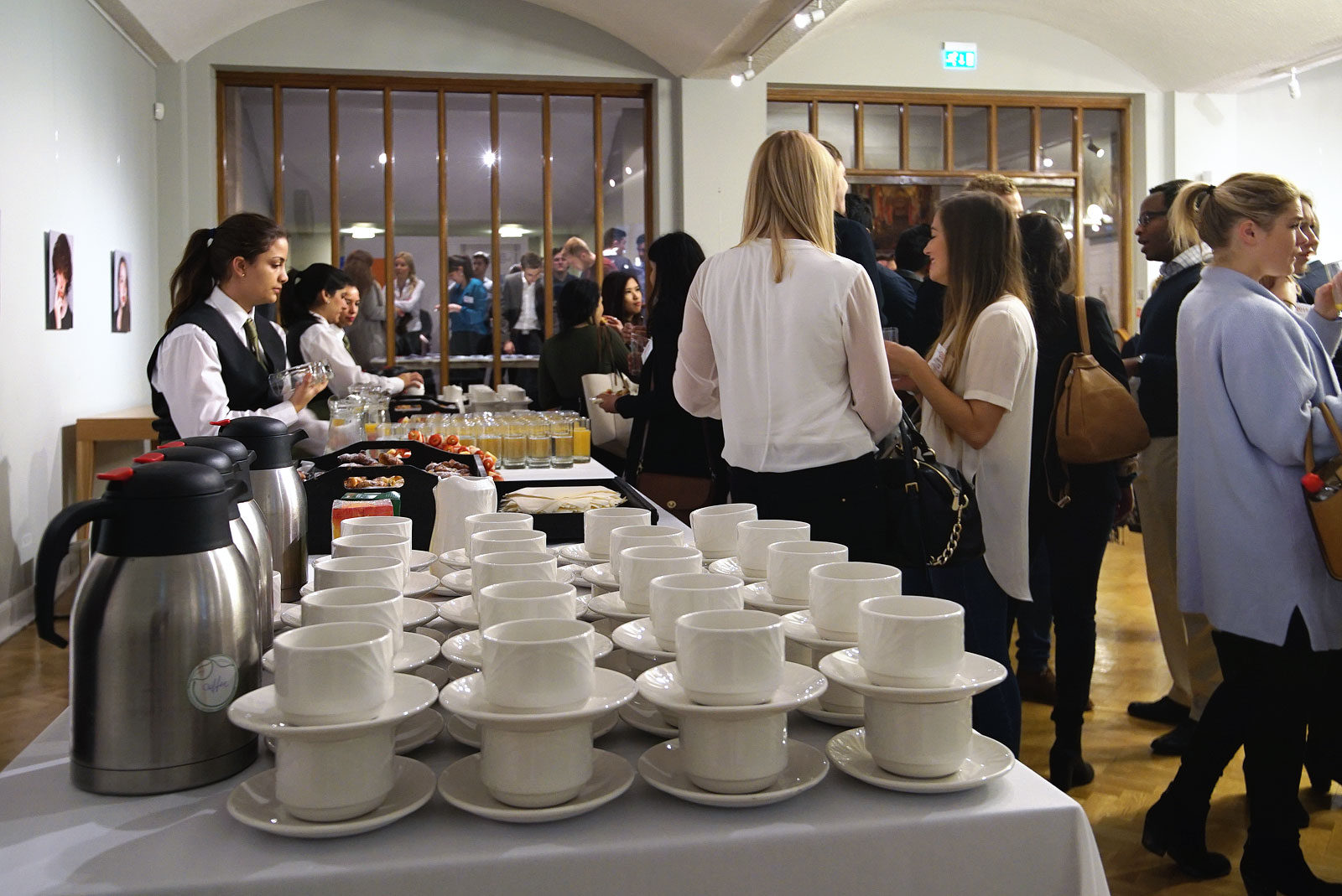 Morning coffee at London EC2 conference venue The Van Gogh Reception Room