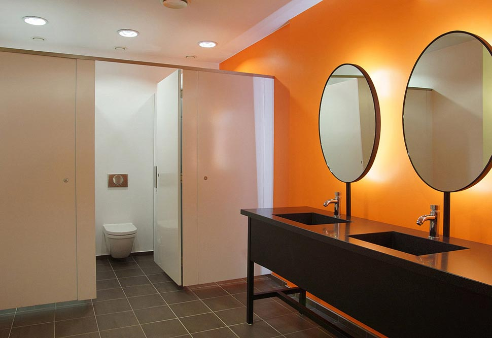 WC cloakroom facilities at City of London event venue The Dutch Hall