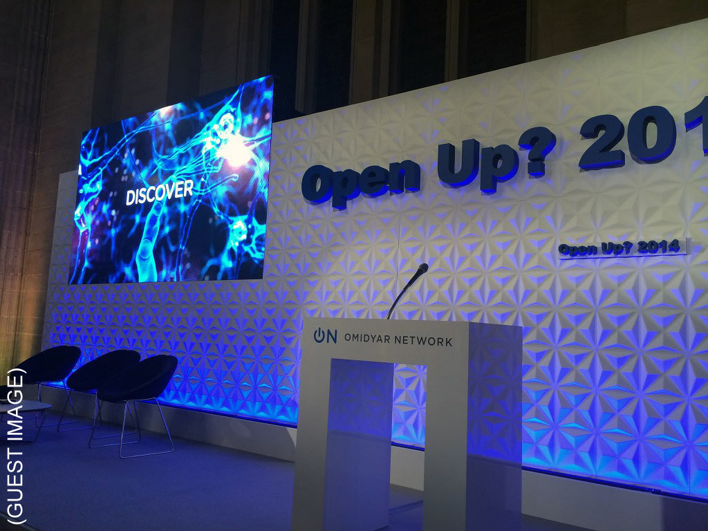 London EC2 conference Venue The Dutch Hall and conference stage set up