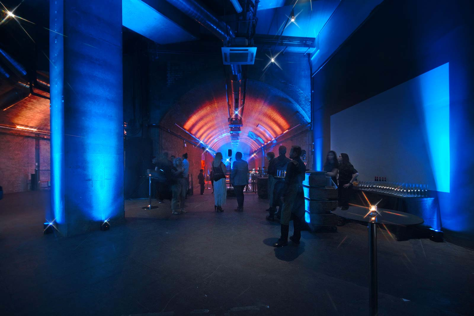 London South Bank Event Venue represented by Venues LDN with mood lighting