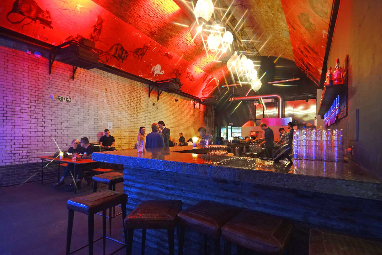 Full working bar at the London South Bank Event Venue represented for hire by VenuesLDN.co.uk