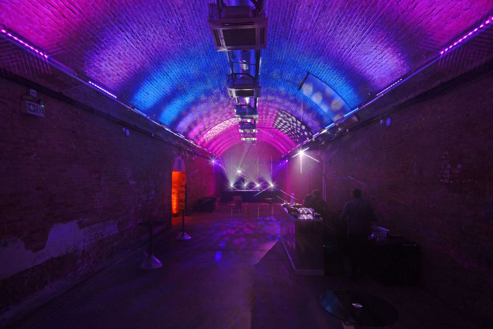 Club style lighting at the Central London event space to hire at London South Bank Event Venue represented by VenuesLDN.co.uk