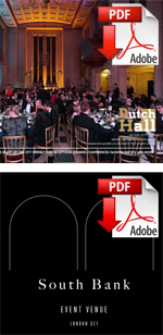 Download Hirers Information brochures for central London Event Venues represented by Venues LDN