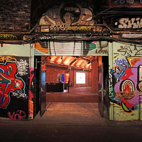 South Bank film location Banksy Tunnels exit